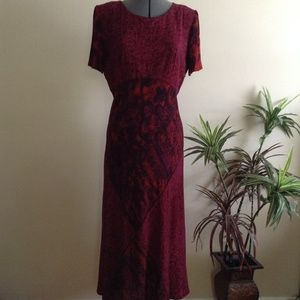 Vintage Carole Little Pieced Pattern Maxi Dress